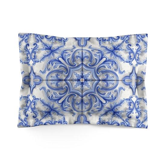 Dutch Blue Tile Microfiber Pillow Sham