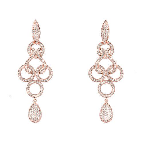 Celtic Knot Shannon Drop Earrings Rose Gold