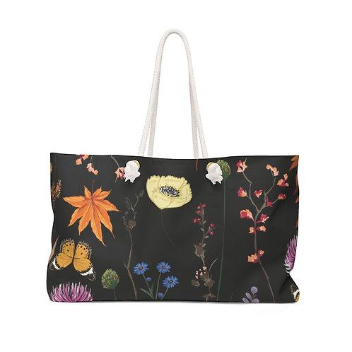 Midnight Wildflowers Weekender Bag