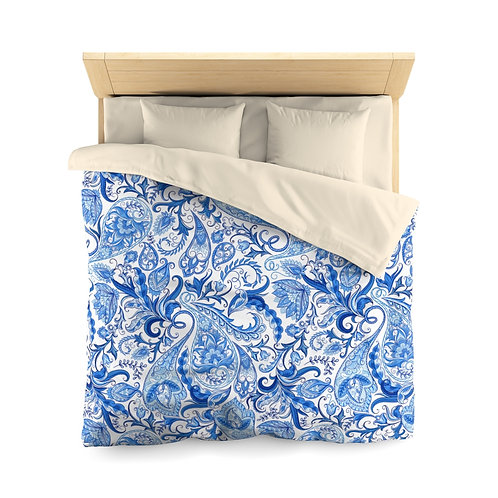 Blue Anastasia Microfiber Duvet Cover