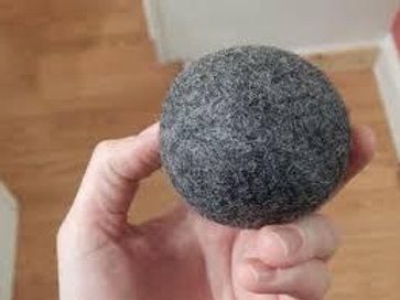 Wet Felted Alpaca Dryer Balls - Grey Aussie