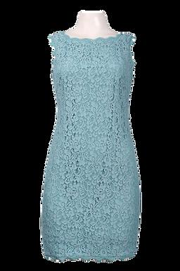 Adrianna Papell Sleeveless Scalloped Lace Sheath Dress (Petite)