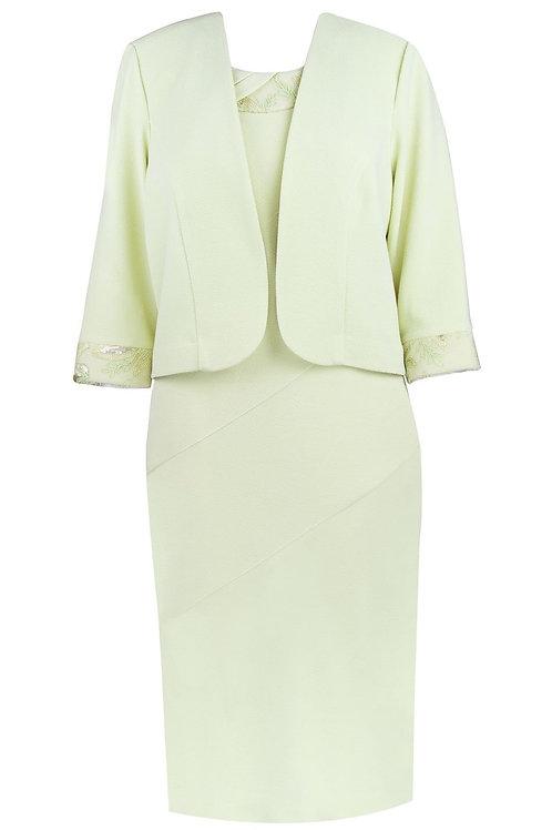 Maya Brooke 2 Piece Citrus Sheath Dress Suit