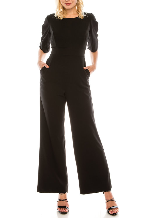 Shelby & Palmer Arm Cutout Jumpsuit