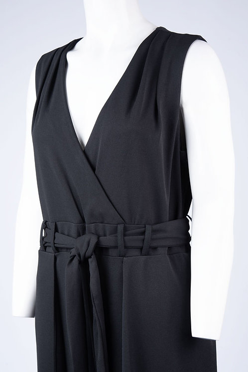 Shelby & Palmer Sleeveless Surplice Neckline Jumpsuit