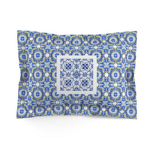 Italian style tile bed sham