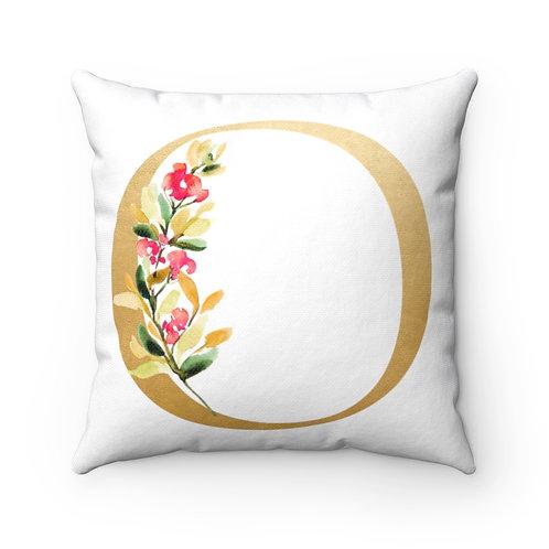 "Gold ""O"" Spun Polyester Square Pillow"