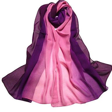 1 PC Lady Scarf Women Gradient Rainbow Color Long Wrap Women's Shawl