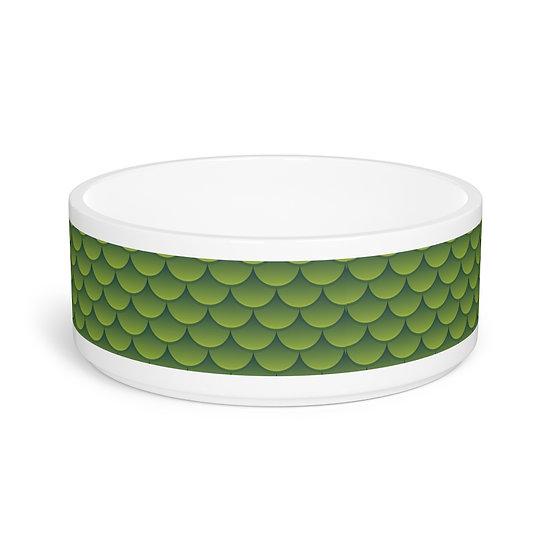 Green Dragon Scales Pet Bowl