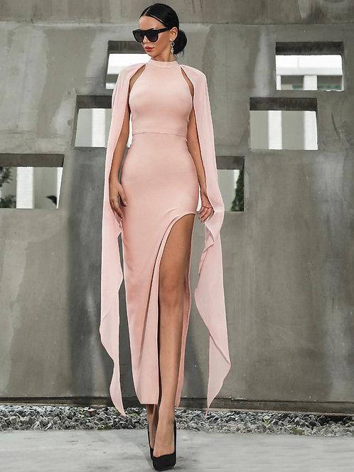Pink High Slit Dress