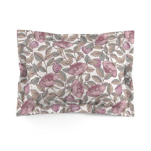 Peony Vines Microfiber Pillow Sham