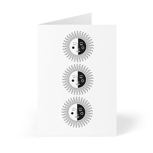 Luna Sun Greeting Cards (8 pcs)