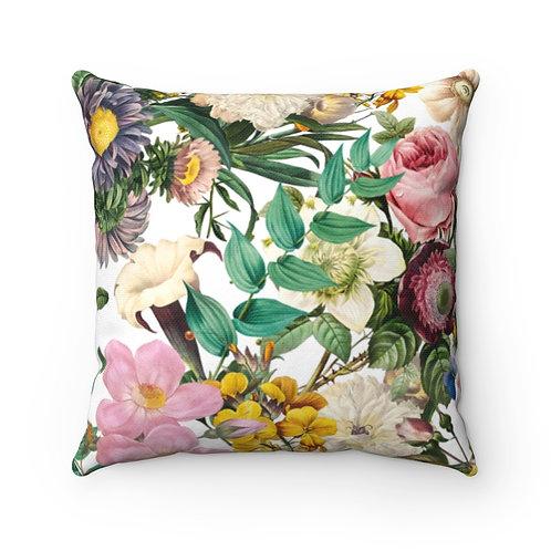 Melody's Garden Spun Polyester Square Pillow