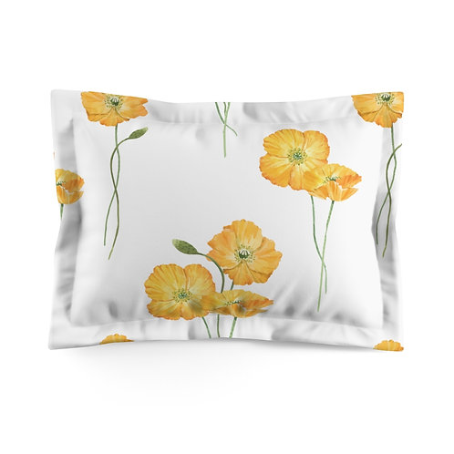 Buttercup on White Microfiber Pillow Sham