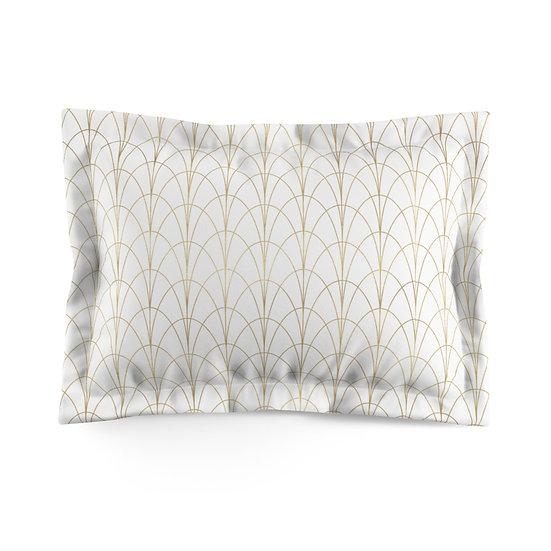 Gold Accent/white Microfiber Pillow Sham