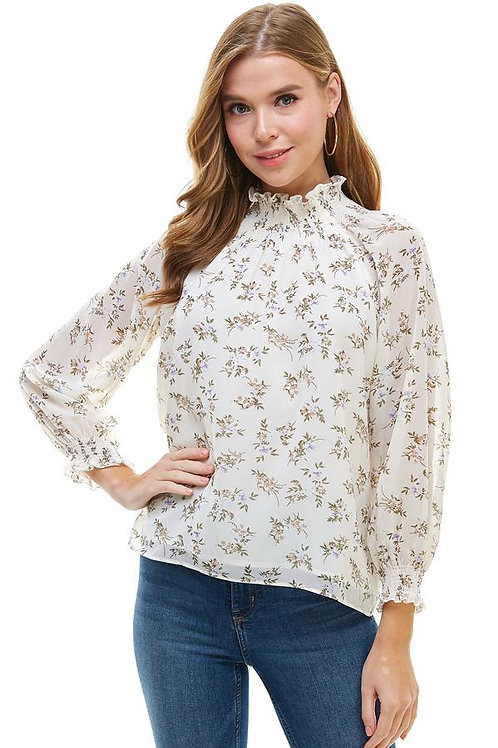 DITSY FLORAL LONG SLEEVES BLOUSE