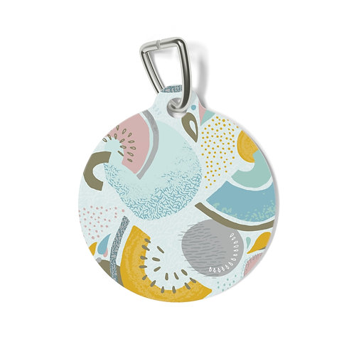 Abstract Melon Slices Pet Tag