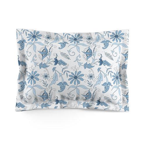 Blue Garden Microfiber Pillow Sham