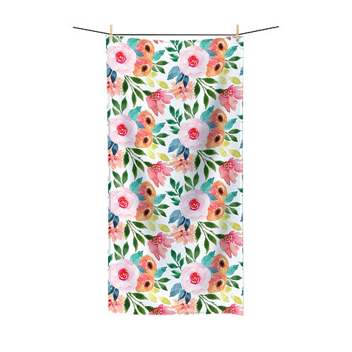 Pink and Peach Polycotton Towel