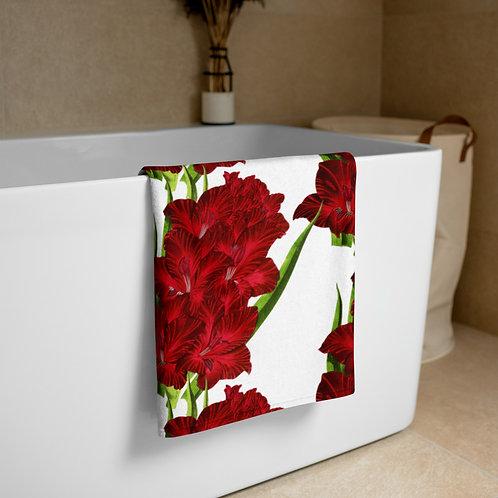 Gladiolus Floral Towel
