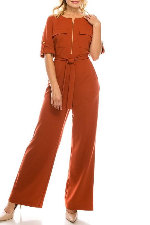 Shelby & Palmer Redwood Crepe Jumpsuit with 4 Pockets