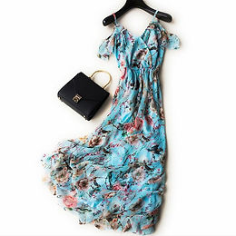 Elegant Silk Patterned dress