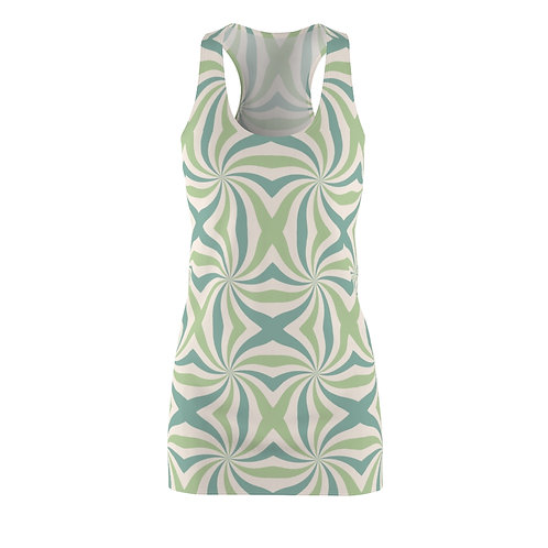 Groovy Green  Racerback Dress