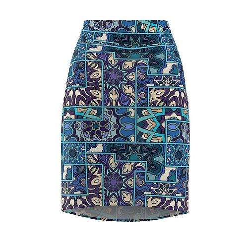 Abstract Women's Pencil Skirt