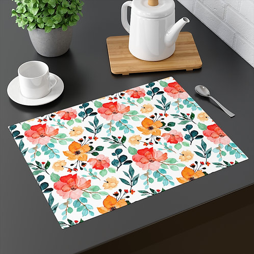 Orange and Peach Floral Placemat