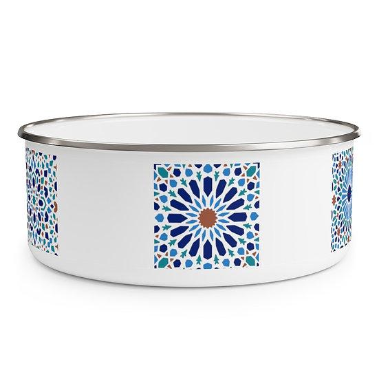 Moorish Design #2 Enamel Bowl