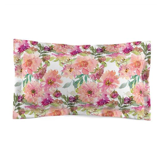 Peach Bouquet Microfiber Pillow Sham
