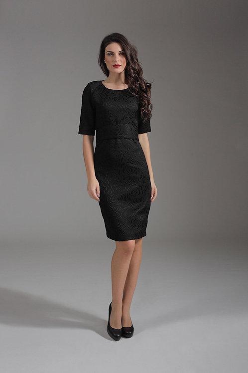 Straight Elbow Sleeve Dress