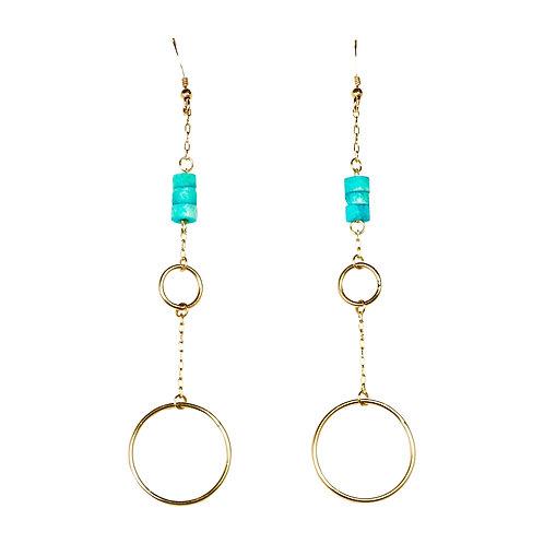 Large Ring Drop Earring