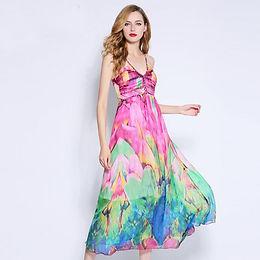 100% Pure Silk Print  Dress