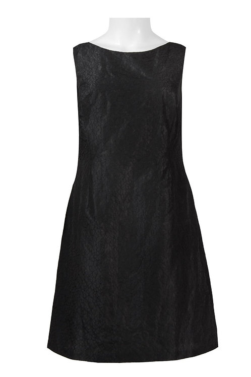 Adrianna Papell Day Boat Neck Sleeveless Cutout Back Embroidered