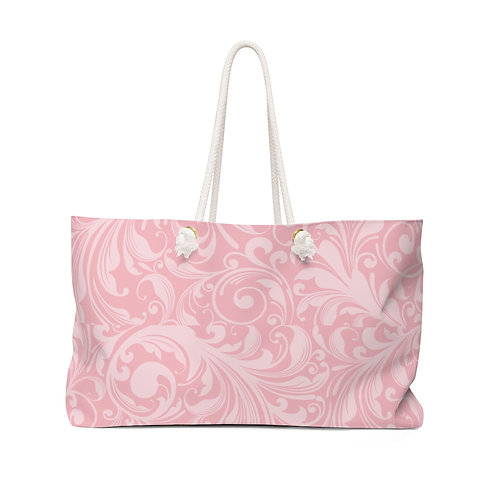 Cotton Candy Pink Weekender Bag
