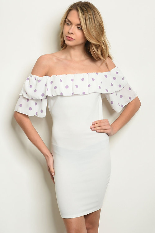 White With Polka Dots Dress