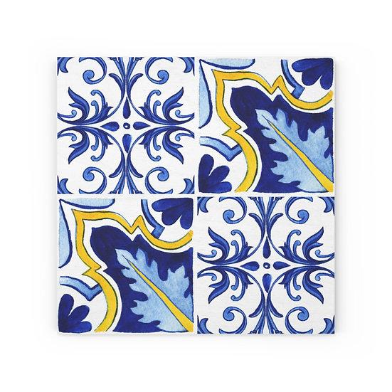 Italian Tile #1 Wood Canvas