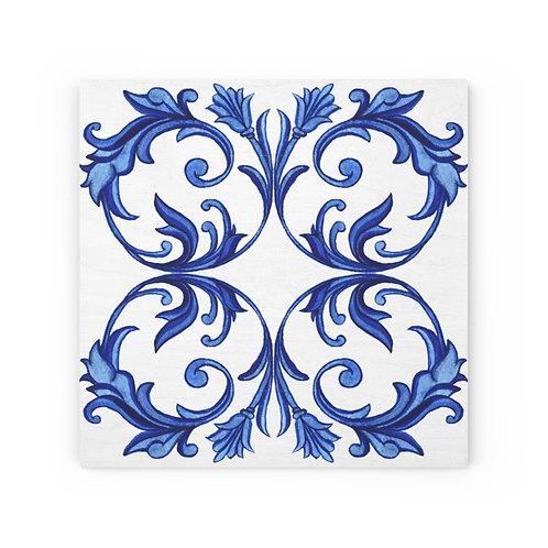 Italian Tile #5 Wood Canvas