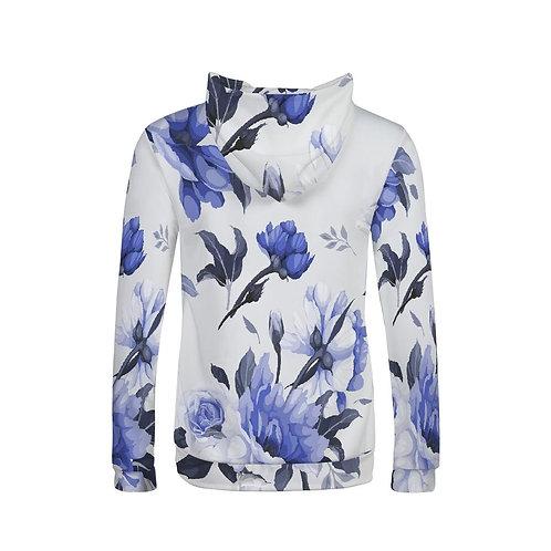 Blue Flower Women's Hoodie