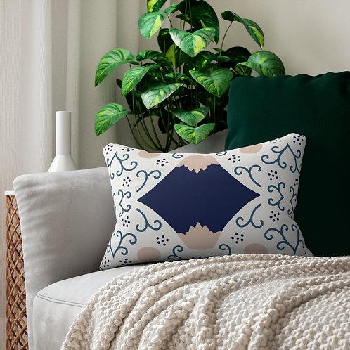 Japanese Decor #8 Spun Polyester Lumbar Pillow