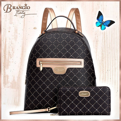 Iconic Handmade Classy Crystal Travel Work Backpack (Bag Only)