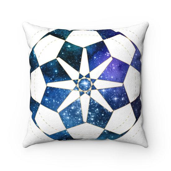 Geometric Celestial Faux Suede Square Pillow