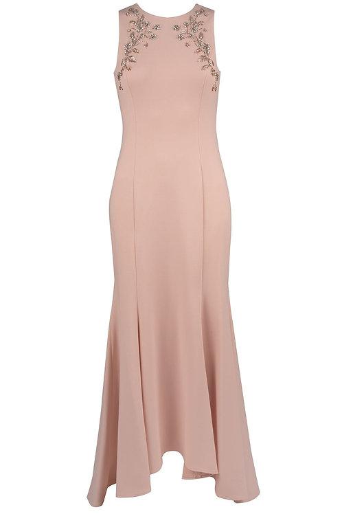 Eliza J Embellished Hi-Lo Mermaid Gown