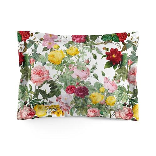 Colorato Giardino di Rose Microfiber Pillow Sham