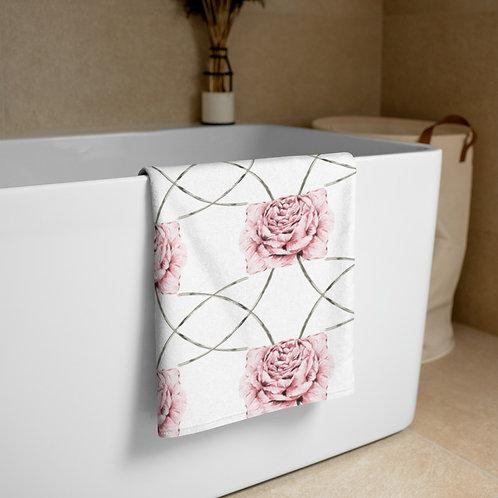 Peony Design Towel