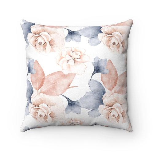 Blush Rose #103 Spun Polyester Square Pillow