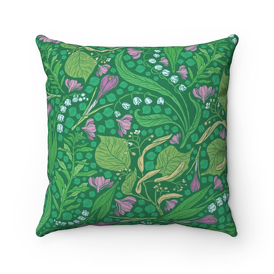 Children's Garden Spun Polyester Square Pillow