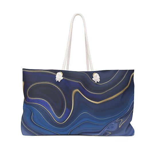 Blue and Gold Weekender Bag