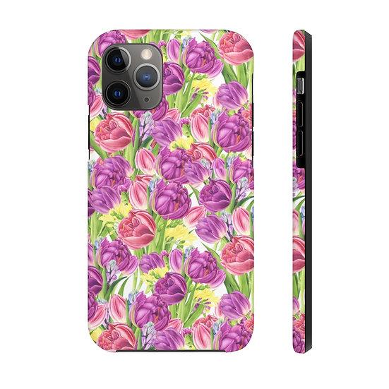 Lavender Tulip Garden Case Mate Tough Phone Cases